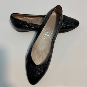 AGL Made In Italy Black Leather Ballet Flats
